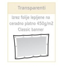 Izrez folije in leplenje na PVC ceradno platno