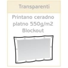 Printan transparent PVC platno blockout